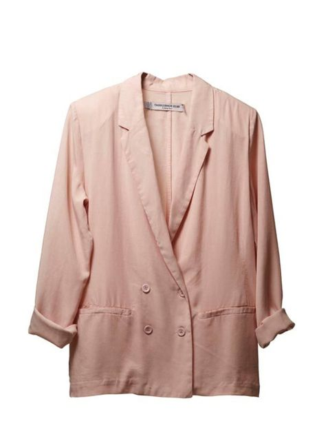 "<p>Spring heralds the return of feminine, blush hues so ditch winter's layers and dark palette in favour of this blush blazer… Something Else nude blazer, £113, at <a href=""http://www.urbanoutfitters.co.uk/"">Urban Outfitters</a></p>"