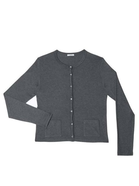 "<p>Headed up by JW Anderson, Sunspel is our new go-to label for feminine weekend staples with subtle, quirky twists. <a href=""http://www.sunspel.com/product/10672/10526"">Sunspel</a> charcoal cardigan, £90</p>"
