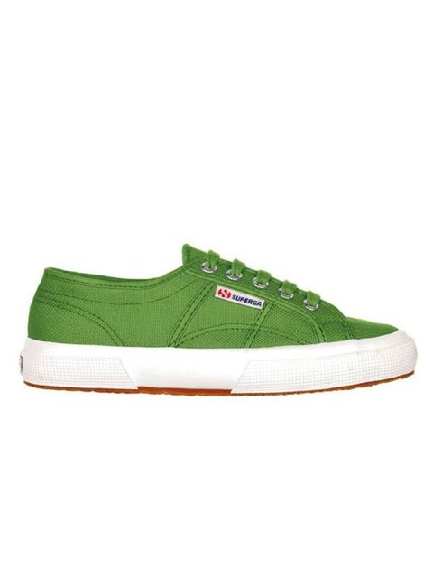 "<p>Sienna and Alexa have already given Superga their seal of approval so alternate this green pair with your deck shoes for a colourful take on spring footwear... <a href=""http://www.superga.co.uk/"">Superga</a> pumps, £40</p>"