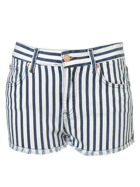 "<p>You know it's almost summer when stores are awash with shorts. If you haven't already treated yourself to a new pair, make these stripe denim cut-offs your essential for up-coming festivals… Moto stripe denim shorts, £32, at <a href=""http://www.topshop"