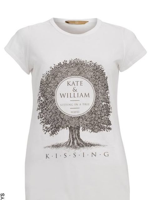 "<p><a href=""http://www.elleuk.com/starstyle/style-files/(section)/kate-middleton"">Kate</a> & William t-shirt, £10, at Sainsbury's</p>"