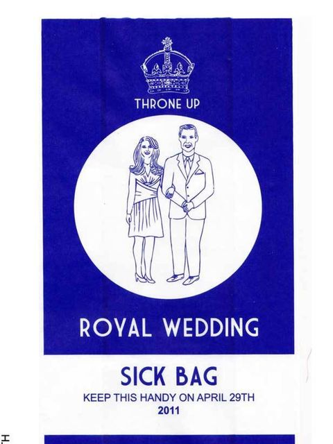 "<p><a href=""http://www.elleuk.com/news/Star-style-News/the-royal-wedding-is-on"">Royal Wedding</a> Sick Bags, £3 each, at <a href=""http://lydialeith.bigcartel.com/products"">Lydia Leith</a></p>"