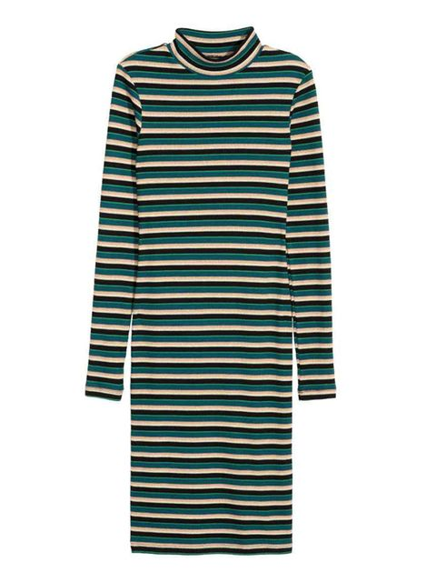 """<p>Start simple. A striped dress is the easiest way to wear head-to-toe stripes.</p>  <p>Dress, £29.99, <a href=""""http://www2.hm.com/en_gb/productpage.0351851004.html"""" target=""""_blank"""">H&M</a></p>"""