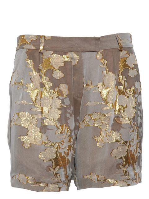 "<p><a href=""http://www.irwinandjordan.com/product/Bottoms/Alfie-Shorts-Ash-Gold-Jacquard/157"">Irwin &amp&#x3B; Jordan</a> jacquard silk shorts, £235</p>"