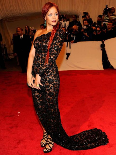 <p>Rihanna in a Stella McCartney gown at the 2011 Met Ball.</p>