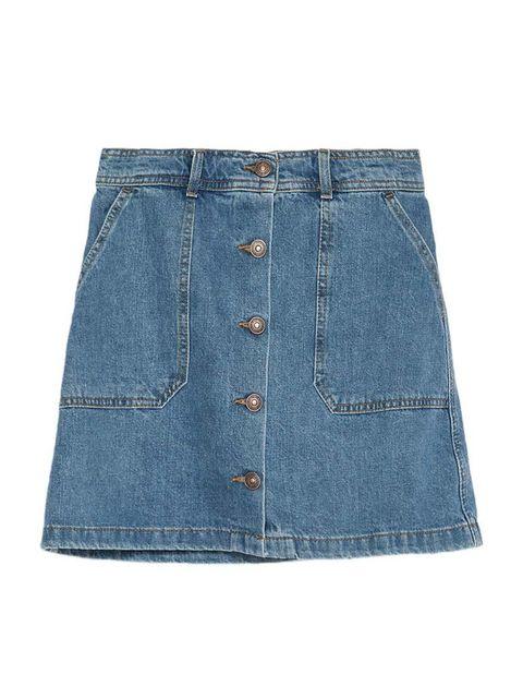 "<p>Editorial Assistant Gillian Brett is embracing the double-denim trend for summer.</p>  <p><a href=""http://www.zara.com/uk/en/new-this-week/woman/mini-skater-skirt-c363008p2775678.html"" target=""_blank"">Zara</a> mini skirt, £29.99</p>"