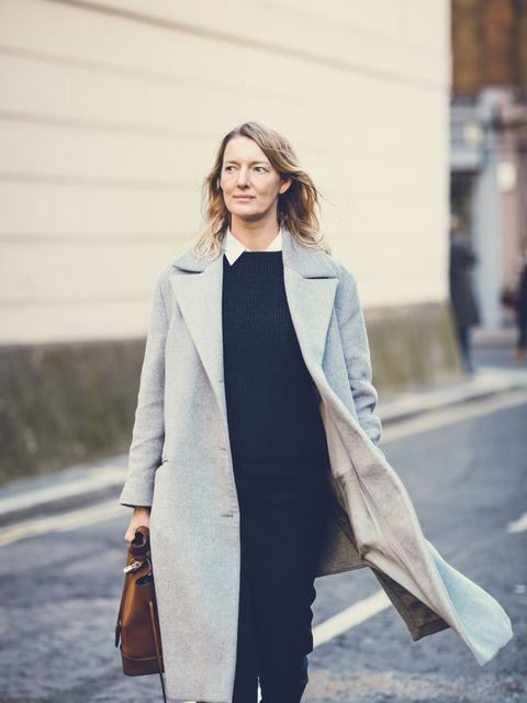 <p>Rebecca Lowthorpe - ELLE Collections Editor / ELLE Assistant Editor</p>  <p>Richard Nicoll coat, APC jumper, Celine trousers, Louis Vuitton bag.</p>