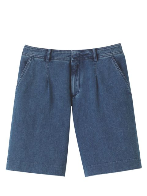 <p>A.P.C. washed denim shorts, £125, for stockists call 0207 729 7727</p>