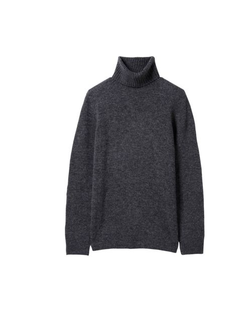 "<p>Uniqlo dark grey lambswool polo neck jumper, £14.90</p><p><a href=""http://shopping.elleuk.com/browse?fts=uniqlo+lambswool+polo+neck+dark+grey"">BUY NOW</a></p>"