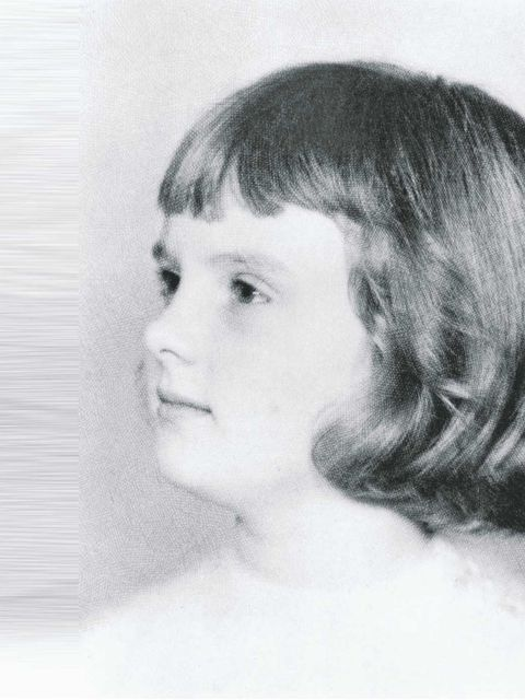 <p>'Me, the chubby-cheeked future model, aged four or five'</p>