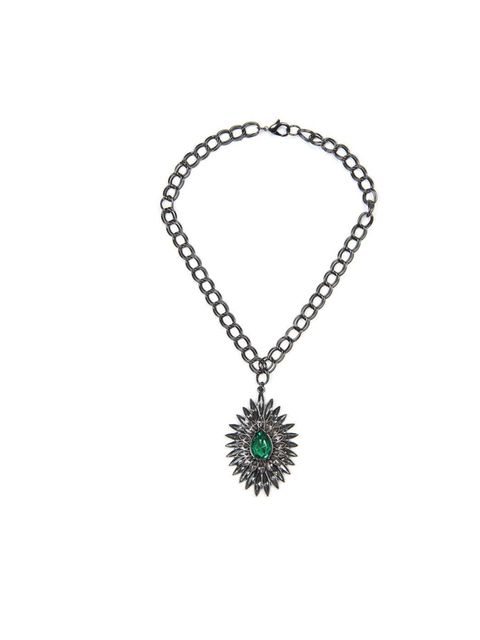 "<p>Mango Touch Crystal embellished maxi pendant choker £29.99 from <a href=""http://shop.mango.com/GB/p0/mango/accessories/jewellery/touch---crystal-embellished-maxi-pendant-chocker/?id=76637669_02&n=1&s=accesorios.bisuteria&ie=0&m=&ts="