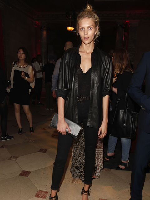 <p>Anja Rubik at the Francois Nars And Steven Klein party at Alder Manor New York, June 2015.</p>