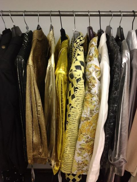 <p>A view from the fashion cupboard on the Jessie J cover shoot</p>