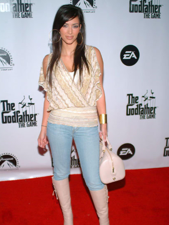 <p>Kim Kardashian way back in 2008</p>