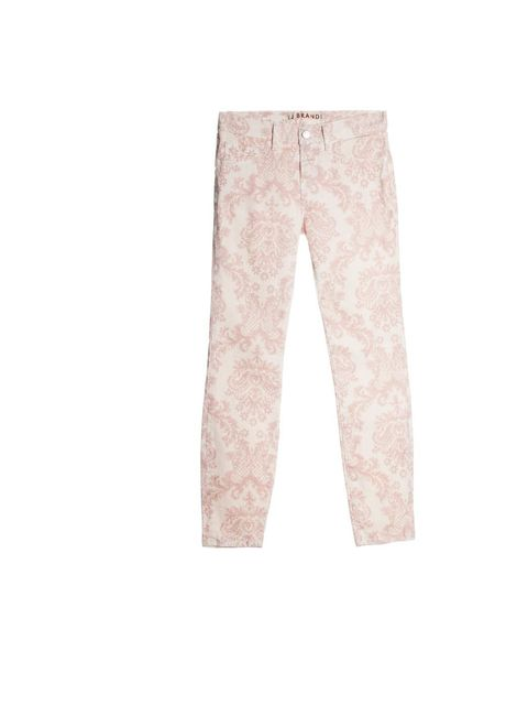 <p>J Brand printed jeans, £240, at Harrods, for stockists call 0207 730 1234</p>