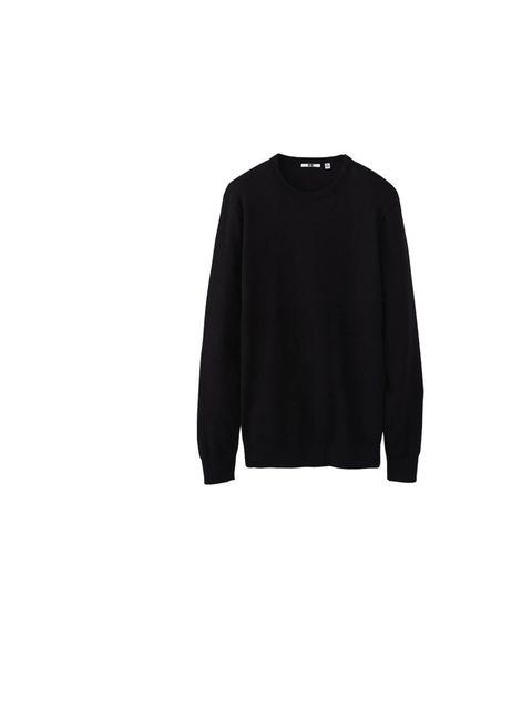 """<p><a href=""""http://shop.uniqlo.com/uk/goods/070941"""">Uniqlo</a> crew neck sweater, £19.90</p>"""