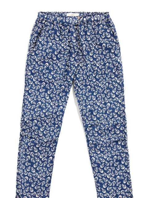 "<p><a href=""http://www.loftdesignby.com/modules/eshop/?language=fr"">LOFT design by...</a> anchor printed trousers, £84</p>"