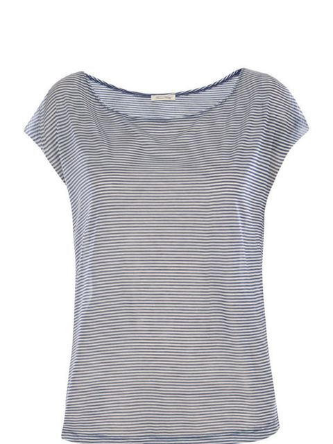 <p>American Vintage striped t-shirt, £42, for stockists call 0207 486 0486</p>