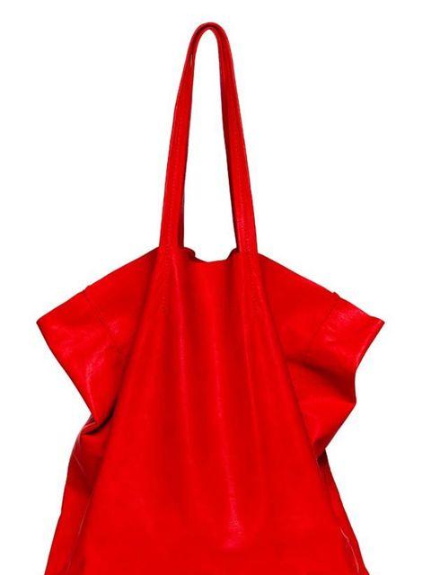 <p>Rachael Ruddick red leather tote, £210, at Selfridges</p>