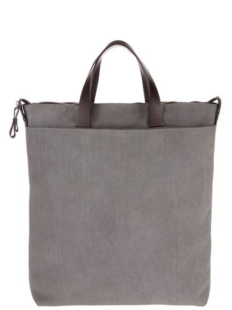 "<p><a href=""http://www.bstorelondon.com/shopping/bags-purses/item10074714.aspx"">b Store</a> grey leather tote, £175</p>"