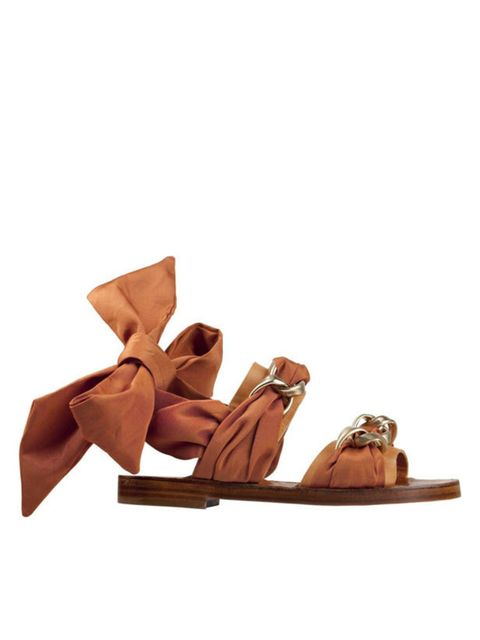 <p>Sonia Rykiel ribbon sandals, £409, for stockists call 0207 493 5255</p>
