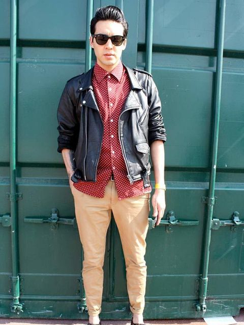 <p>Noel, 28, Record Producer. Vintage jacket from Paris, vintage shirt &amp&#x3B; shoes from Madrid, Zara trousers.</p>