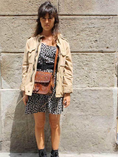 <p>Anna, 26, Lingerie Designer. jacket from France, H&amp&#x3B;M dress, boots from Paris, vintage bag.</p>