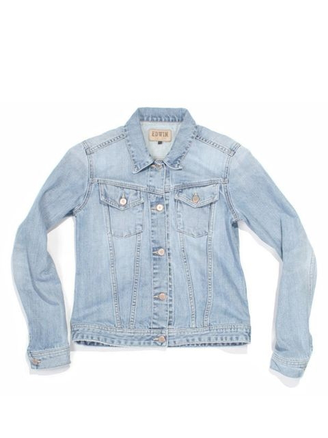 <p>Edwin denim jacket, £175, at The Three Threads, for stockists call 0207 749 0503</p>
