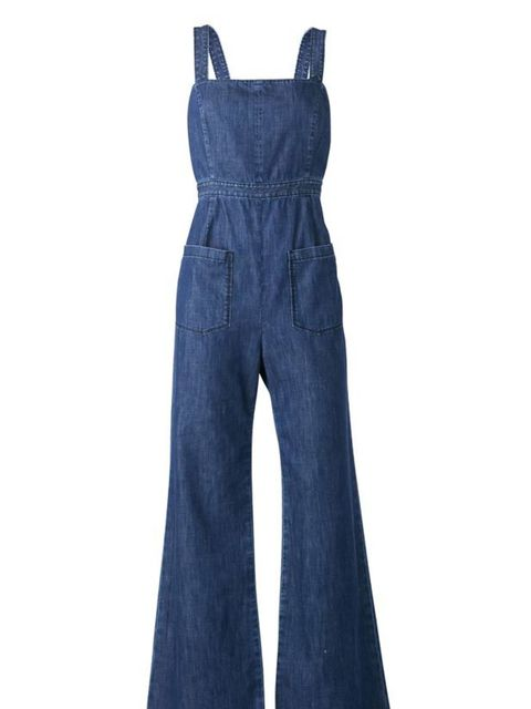<p>Gap flared denim dungarees, £55.95, for stockists call 0800 427 789</p>