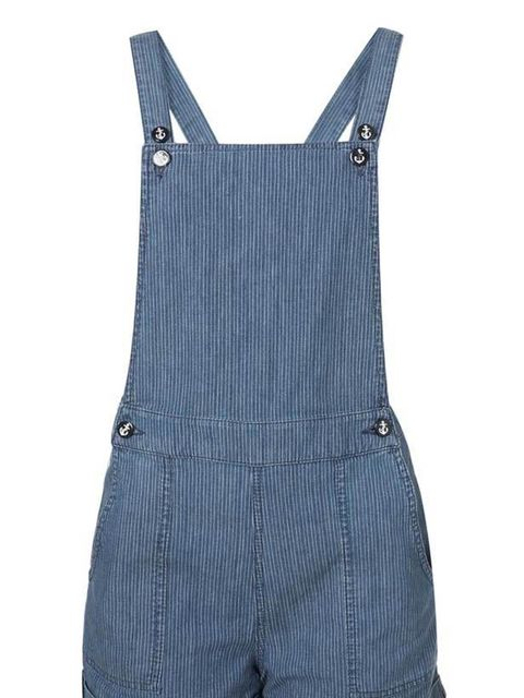 "<p>Moto striped dungarees, £40, at <a href=""http://www.topshop.com/webapp/wcs/stores/servlet/ProductDisplay?beginIndex=0&viewAllFlag=&catalogId=33057&storeId=12556&productId=2406784&langId=-1&categoryId=&searchTerm=dungarees&am"