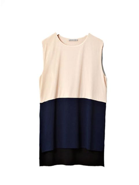 "<p>Solving your summer workwear dilemmas, this sleek and simple vest ticks off the colour-blocking trend in an instant.... <a href=""http://www.cosstores.com/gb/site/home__start.nhtml"">COS</a> two-tone top,£29</p>"