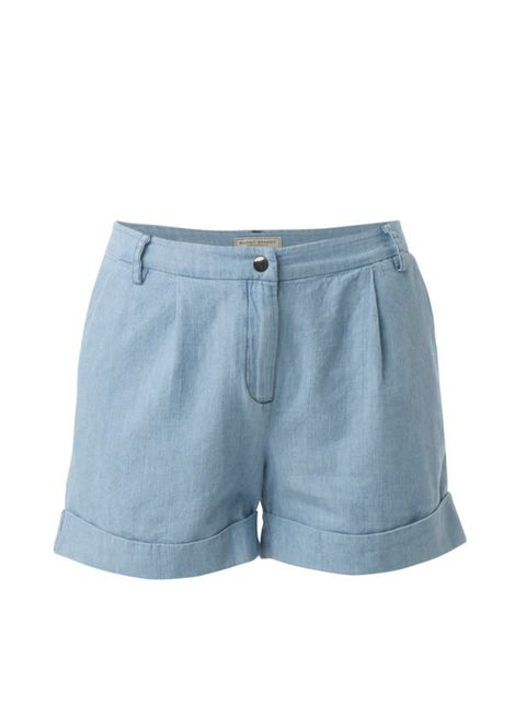 <p>Relatively unknown label Margit Brandt offers up covetable Danish denim with a retro twist. Our favourite piece? These chambray shorts… Margit Brandt chambray denim shorts, £45, at monicaandjoe.co.uk</p>