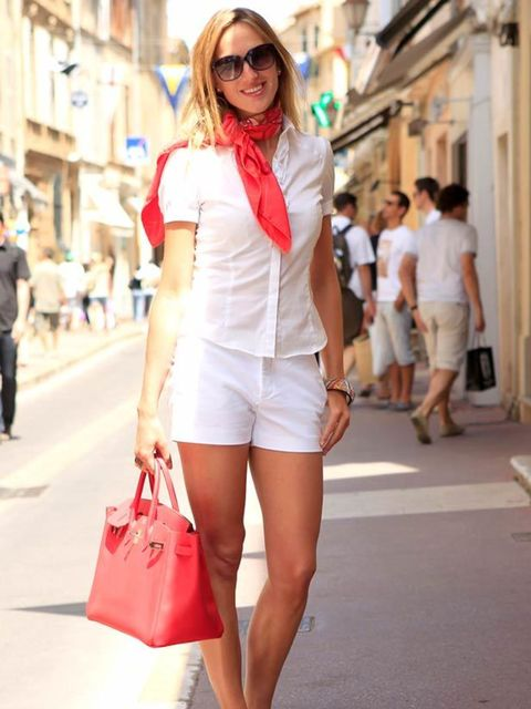 <p>Photo by Anthea Simms.Barbara, 27, Interior Design consultant. Chloe blouse, Zara shorts, Mellow Yellow sandals, Hermes bag and scarf, Jimmy Choo sunglasses.</p>