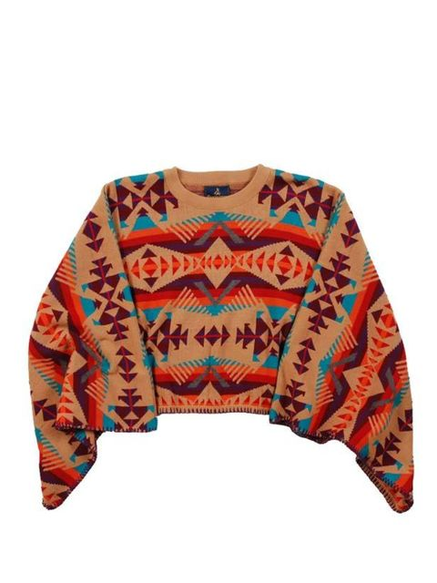 "<p>Pendleton meets Opening Ceremony aztec poncho, £216, at <a href=""http://goodhoodstore.com/?page=51&amp;id=1998&amp;type=womens"">Goodhood</a></p>"