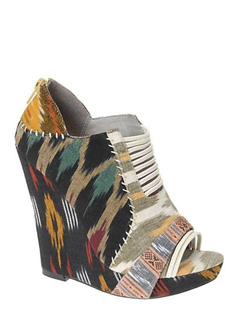 "<p><a href=""http://www.aldoshoes.com/uk/women/shoes/wedges"">Aldo</a> and Julian Louie printed wedges, £85</p>"
