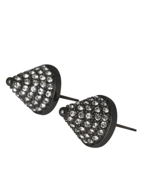"""<p>Eddie Borgo cone stud earrings, £205, available from <a href=""""http://www.liberty.co.uk/fcp/product/Liberty//Gunmetal-Pave-Cone-Stud-Earrings-Eddie-Borgo-/62689"""">Liberty</a></p>"""