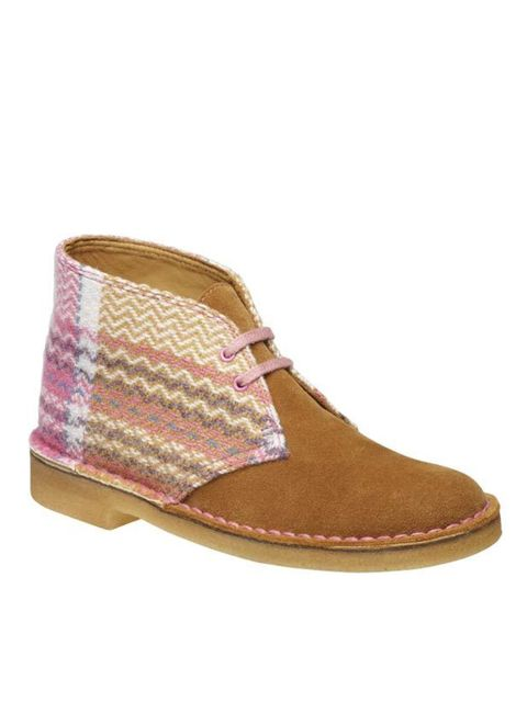 "<p>Looking for an easy way to tap into the artisan textile trend? Then Clarks' update of the classic desert boot complete with 1930s Welsh blanket detailing is just the ticket…<a href=""http://www.clarks.co.uk/find/keyword-is-desert+boots/product-is-203471"