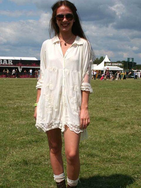 <p>Street Style Zoe Chin, 18, Student. Dress & sunglasses from Camden market, H&M boots.</p>