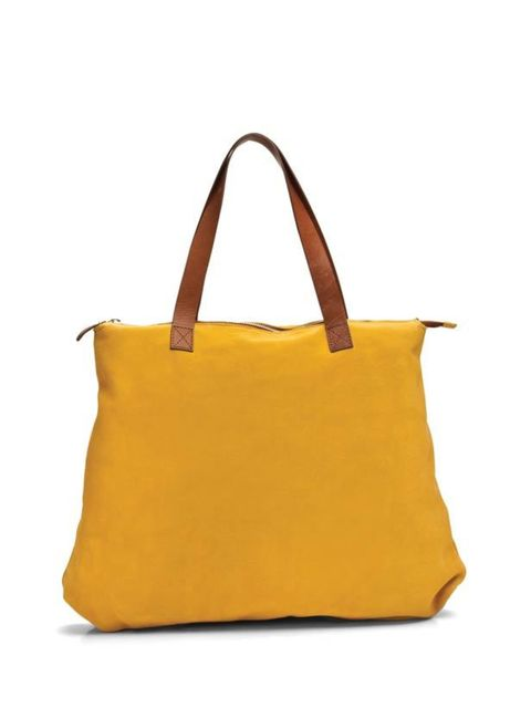 <p>This roomy leather tote will make a chic everyday companion and add a refreshing splash of colour to warm-weather looks… Veja leather tote, £180, at Darkroom, for stockists call 0203 355 8355</p>
