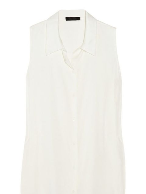 "<p>The Row sleeveless blouse, £310, at <a href=""http://www.net-a-porter.com/product/161648"">Net-a-Porter</a></p>"
