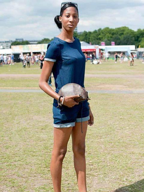 <p>Photo by Kirstin Sinclair.Leanne Joseph, 23, social Worker. Topshop playsuit, Gucci sunglasses, Louis Vuitton bag, Office shoes.</p>