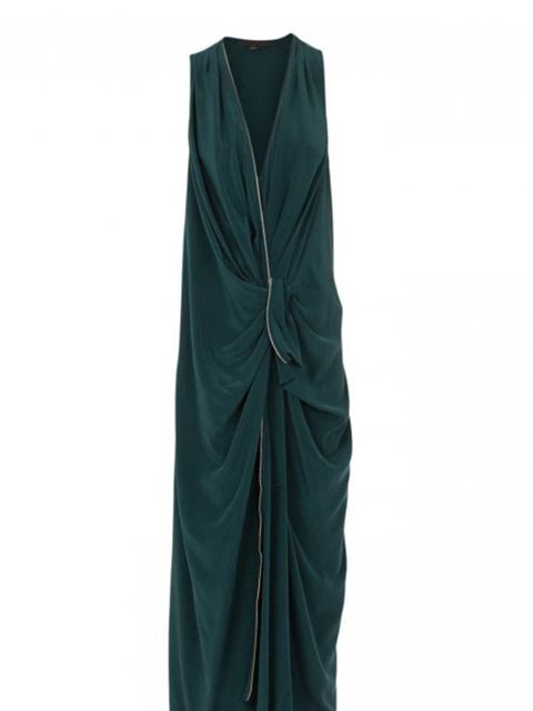 "<p>Alexander Wang zip through maxi dress, £585, at <a href=""http://www.harveynichols.com/womens/categories-1/designer-dresses/cocktail/s371752-zip-through-silk-maxi-dress.html?colour=TEAL"">Harvey Nichols</a></p>"