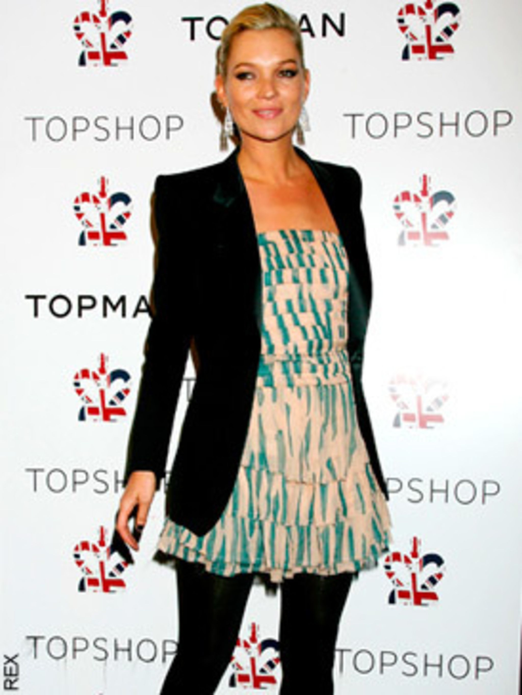 8af57f16b Kate Moss arrives in New York for Topshop opening