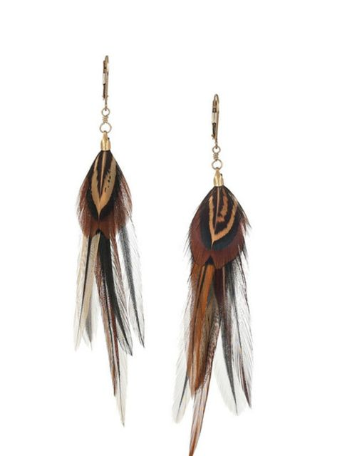 "<p>Jeeyun Ha feather earrings, £115, at <a href=""http://www.net-a-porter.com/product/174131"">Net-a-Porter</a></p>"