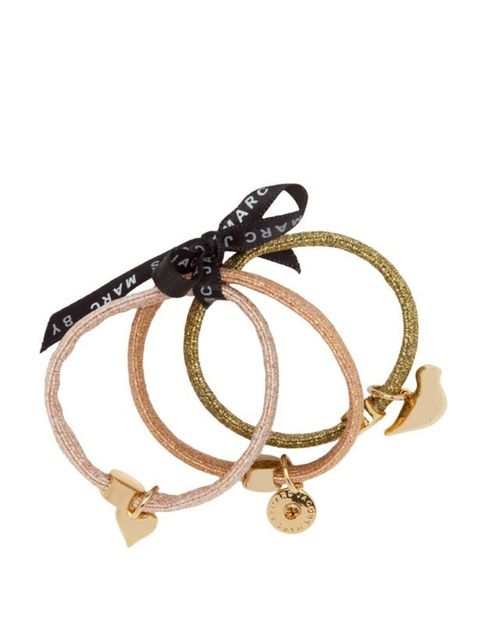 <p> </p><p>Wrapped around your hair or even around your wrist, these cute hair bands will add sparkle during the festive season. Or if you're feeling generous, they also make the perfect stocking filler. Marc by Marc Jacobs gold hair bands, £25, at <a hre
