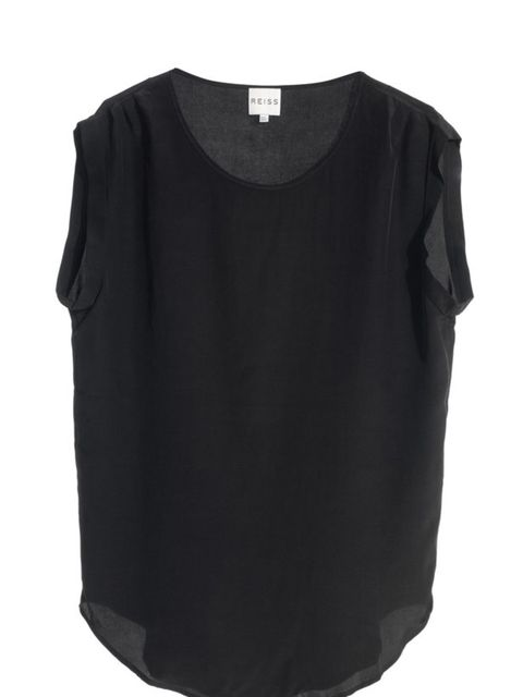 "<p><a href=""http://www.reissonline.com/shop/womens/tops/liv/black/"">Reiss</a> 'Liv' silk top, £95</p>"