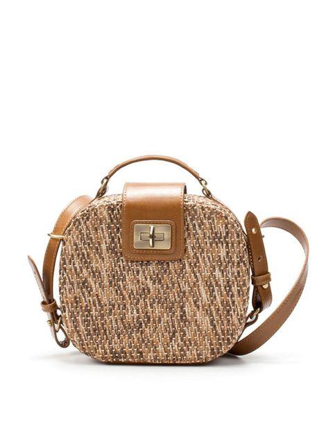 <p>Zara rafia messenger bag, £39.99</p>