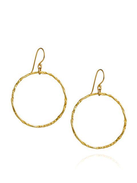 """<p><a href=""""http://www.claudiabradby.com/everything/earrings/"""">Claudia Bradby</a> hoop earrings, £42</p>"""