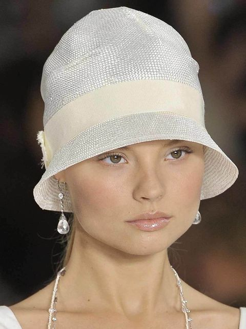 """<p>Not just a bad hair day quick fix, the pony is an easy entry point to 20's styling. Plus the perfect partner to a hat or fascinator. <a href=""""http://www.elleuk.com/catwalk/designer-a-z/ralph-lauren/spring-summer-2013"""">Ralph Lauren</a> channelled Gatsby"""