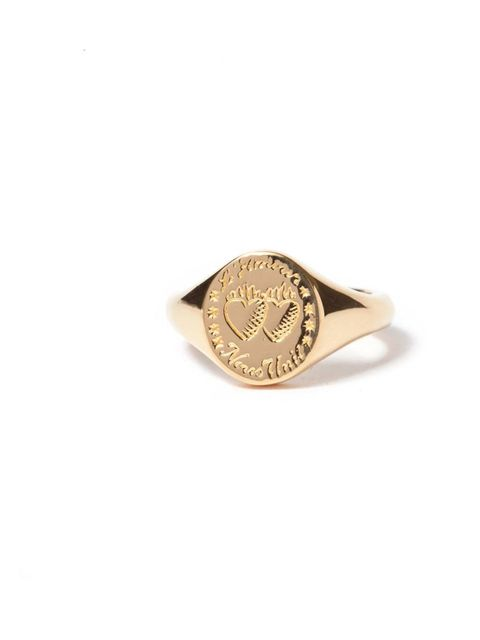 """<p>A very romantic take on a signet ring. This will look like a family heirloom when you wear it - which will be all the time, since it's too pretty to ever take off... <a href=""""http://www.lauraleejewellery.com/boutique/index.php?_a=viewProd&productId=98"""""""